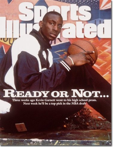 On the cover of Sports Illustrated after controversially declaring for the draft straight out of high school.